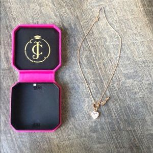 Juicy Couture Rose Gold Heart Necklace